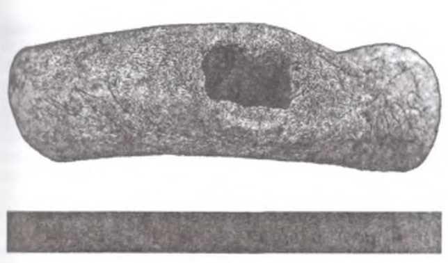 Фото 4. Основание предмета с отверстием и орнаментом