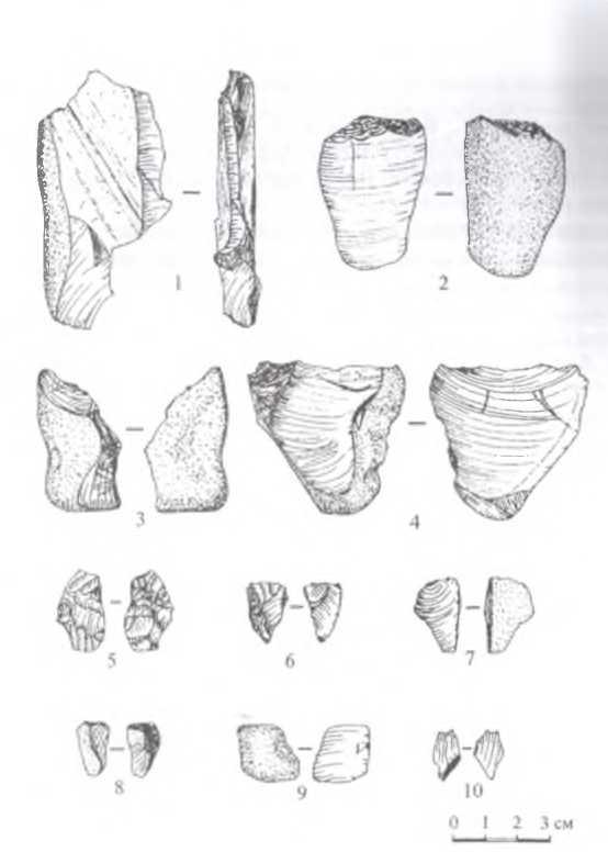 Рис. 3. Иволгинский район, стоянка Тологой-VI, Подъемный каменный материал