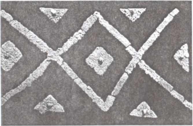 Рис. 7. Реконструкция орнамента на стенках гробов (погребения № 23 и 27)