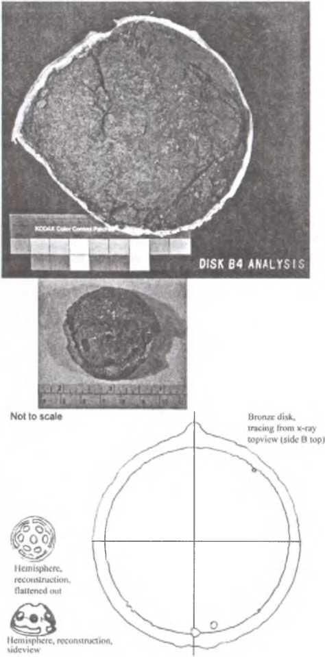 Рис. 10. Бронзовые диски (зеркала в матерчатых чехлах)